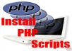 install any php scripts (wordpress,joomla,prestashop,magento,drupal,opencart,opensis,etc..(just to name a few for example))