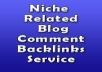 provide you theme based, niche relevant 5 High pr1+ actual pagerank quality blog comment backlinks with keyword diversity