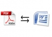 convert your document into PDF or vice versa