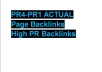 create a hundred PR4-PR1 ACTUAL Page Backlinks