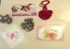 I will mail a crocheted heart, of my choosing, and a note on a nice note card, of my choosing, to the person of your choice.  Each crocheted heart is 2 1/2 inches wide by 8 3/4 inches long. I have over 600 crocheted hearts in stock.  The heart and note card will be wrapped in plastic and mailed in a brown envelope.