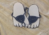 I make these sandals by hand from cotton made out of recycled jeans.  They look absolutely awesome!  My kids and I wear them all the time!  As with all handmade items, colours may vary slightly from the photograph but that's what makes them such a unique and lovely gift :D  ***BONUS*** FREE postage to anywhere in the world!