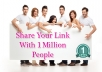 promote your page or product more than 1 MILLION real people on facebook groups