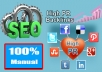 provide you 40 facebook share 30 twitter share 20 Google plus share and 20 pinterest pin your link or your website.