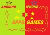 sell 50 paid apps and games for both iphone