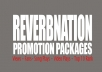 Get You 1k REVERBNATION Plays + 1k Video Plays + 1k Widget Impressions