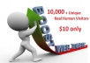send 10,000+ Unique Real Human Visitors to your LINK and proof for the traffic