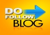 write 5 PR1 PR2 dofollow blog comments which will link to your website