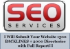 submit your Website Or Blog To 1500 Backlinks + 2000 Directories for SEO + Ping