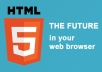 convert your website pages to HTML5/CSS3