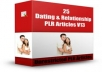 give you 25 Dating And Relationship PLR Articles V 13