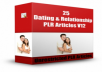 give you 25 Dating And Relationship PLR Articles V 12