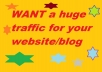 sell huge traffic for website,blog etc