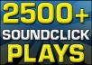Add 2500 SoundClick Plays to your song