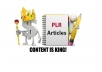 provide you 800,000 PLR article and about 500 High Quality PLR& MRR ebook