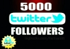 give you 5,000 Twitter Followers [100% Drop Replacement]