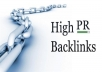 manually do 28xpr4+ do-follow high quality back links on actual pr