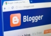 make a blogger blog for your website or you