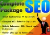 Provide you a Complete SEO Package within 24hrs, just give me your Website Url, please read the description for more details