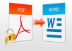 convert 30 of your pdf files to word