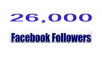 Add 26,000 facebook profile followers in 46 Hours