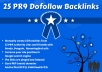 create 25 PR9 Panda, Penguin and Hummingbird Backlinks safe from Authority Sites