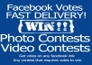 give you 200 Facebook votes or likes to any contest