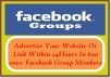 advertise Your Website Or Link Within 24Hrs In 600 000 Facebook Group Members