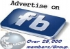 promote your Products,Services, links To 50 FACEBOOK Fan Pages/Groups up to 50,000 Members Each