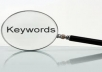 Research 10 must profitable keywords for your site