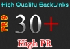 MANUALLY create High Quality 30+ PR3 PR9 Backlinks