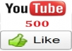 give you 500 genuine LIKES to any YouTube videos