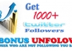 add over 900+ new REAL twitter followers