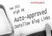 Give You 40000 Auto Approve DoFollow and Nofollow Mix Backlink List
