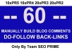 blog manually 60 actual Highpr 10PR5 10PR4 20PR3 20PR2 backlinks
