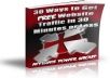 Show You 30 Ways to Get FREE Website Traffic in 30 Minutes or Less