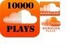 provide 10000 High Quality Soundcloud Plays in Your Selected Track