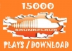 get you 20000 soundcloud Plays OR Downloads within24 hours