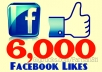 Get you 6,000 Facebook Fans or Likes