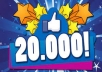 give 20,000 Real and Permanent FACEBOOK Website Likes