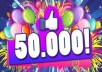 give 50,000 Real and Permanent FACEBOOK Website Likes