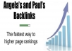 Build Current Angela & Paul's List Links in 24 Hours For Immediate Traffic