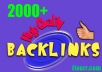 create for you 2000 High Quality Backlinks