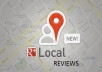 write 2 Google Local reviews