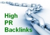 Give You High PR Profiles Backlinks Packet