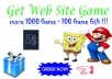 build a blog contain 1000 game + Temlate Pro + Gift