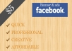 create a custom facebook header, banner or ads for you or your business
