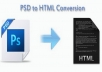 make your PSD file to HTML Web Page
