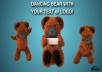 dancing teddy bear introduce your text or logo!