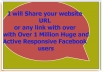 share your website  link with Over 1 Million Active Responsive Facebook Users